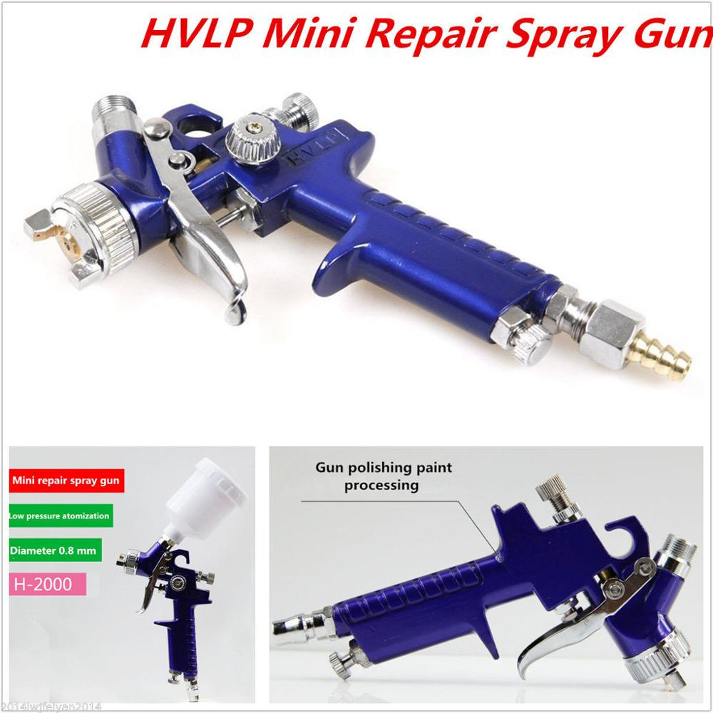 Mini Air Spray Gun 0.8mm HVLP Touch Up Paint Sprayer Auto Car Detail Spot Repair