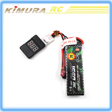 RC Battery Voltmeter Voltage Tester Checker Low Voltage Alarm Buzzer for Battery