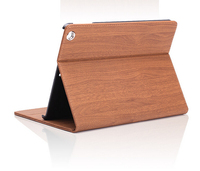 New Fashion Contracted Holster Wood Grain Series Leather Case For ipad 3 back cover case