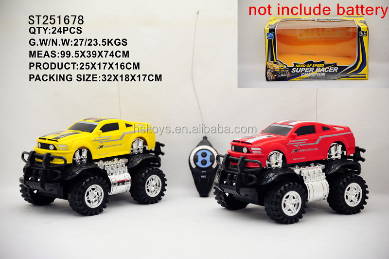 2015 Best selling toys ! Include Certificate! 2ch model rc car with big wheel on sale