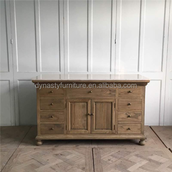 antique bathroom wood and marble top vanity cabinet