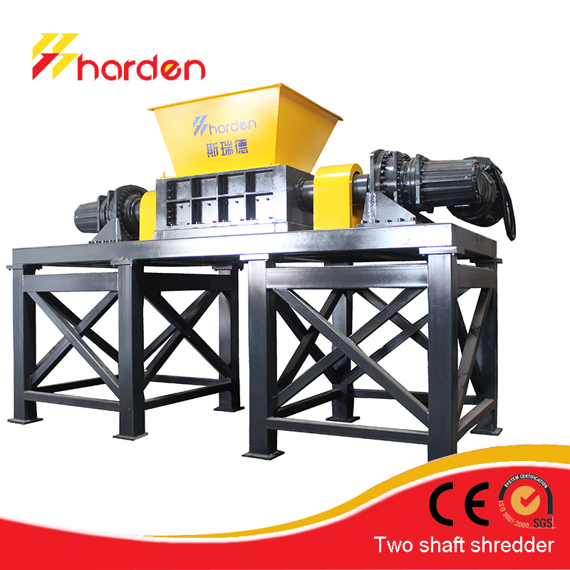 Strong double shaft shredder/ industrial cardboard shredde
