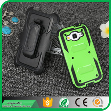 Shockproof double layers Combo Hybrid Stand Case with Belt Clip Rugged Hard Robot Mobile Phone Cover for Samsung G360 Core Prime