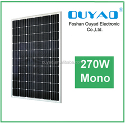 High efficiency monocrystalline 270W solar panel price list, solar panel 270W with 25years warranty
