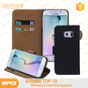 BRG-Free Shipping Luxury Wallet Leather Case for Samsung Galaxy S6 Edge Case Flip Cover With Credit Card Holders