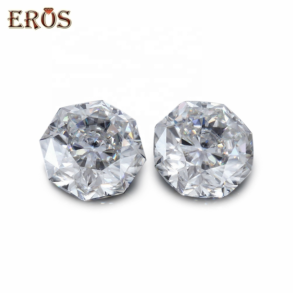 3 x 3 - <strong>11</strong> x <strong>11</strong> mm <strong>D</strong> color Octagon Shape white loose moissanite fashion crystal diamond gem stones for sale