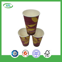 NEW cup disposable printed espresso flower single wall paper cup composable takeaway cups