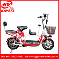 three wheel bike double 48v 500w electric tricycle electric vehicles with pedals for Family model
