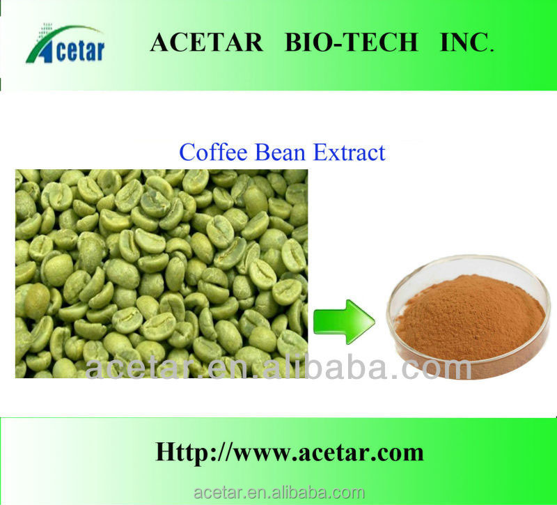 Kosher ,Haccp , Halal . green coffee bean extract Total Chlorogenic acids 45%, 50%, 70%, 98%; by HPLC