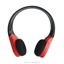 D460 Shenzhen Factory Lightweight Over-Ear Wireless HiFi Stereo Headphones with Built-in Mic Comfortable Leather Earphones- RED
