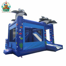 new type indoor/outdoor inflatable bouncer slide for kids on land