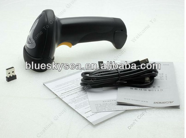 Good quality Barcode Scanner 2.4G 30m Wireless Laser Barcode Reader For Windows & Windows CE