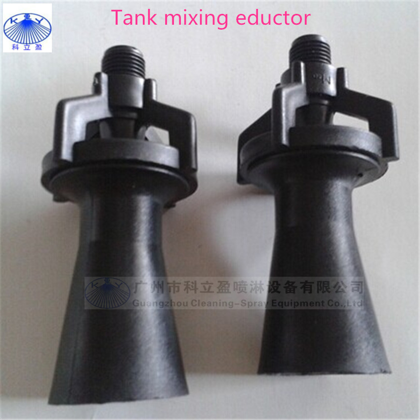 Anti- clogging eductor mixing pp nozzle