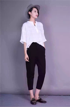 high end custom cotton/linen light soft lady's shirt, women blouse