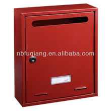 Apartment wall mounted metal mailbox, letterbox, postbox