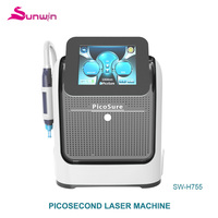 Most popular pigmentation treatment laser picosecond 50 wt medical CE approval 1800W 755nm portable pico laser machine
