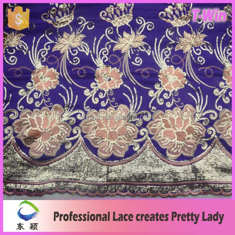 New fashion african george raw silk fabric/african lace george/ george wrappers