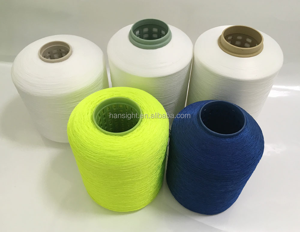 semi dull 75 36 dty polyester twist yarn on dyeing tube for knitting shoe upper