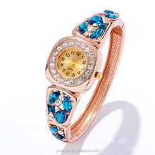 Square Rhinestone Waterproof Rose Gold Ladies Quartz Select Watch