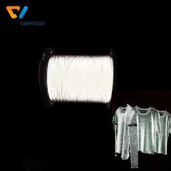 high visible double side machine soft retro reflective yarn thread for knitting