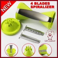 2015 Factory Wholesale high quality spiral vegetable slicer 4-Blade Vegetable Spiral Slicer