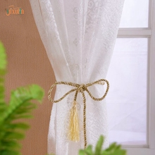 new products on china market tulle 100% polyester white luxury drapes window curtain