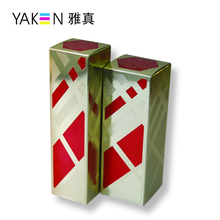 Custom four color cmyk luxury paper printing box with gold blocking