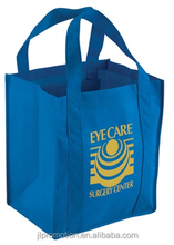 Grocery Non-Woven Tote Bag with cardboard insert heavy load carry bag