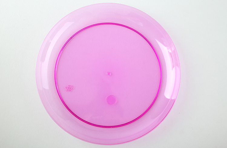 Hot Sale Disposable Round PS Plastic Charger Plate
