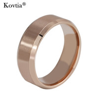 New Rose Gold Jewelry Men Ring