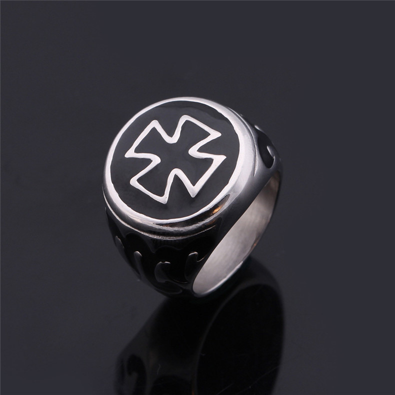 Titanium steel jewelry manufacturers wholesale, cross ring, individuality jewelry titanium steel ring YSS771