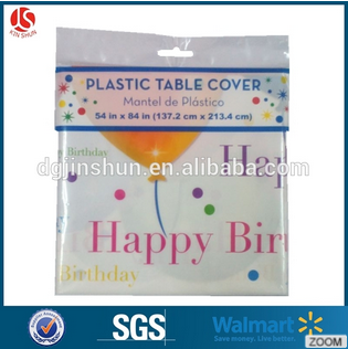 kinshun party suppliers plastic printed round happy birthday table cover