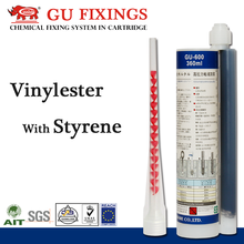 Epoxy acrylate styrene resin 360ml adhesive two component cartridge