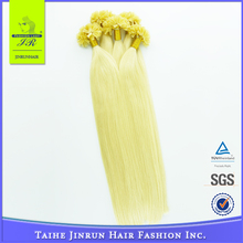 Fast shipping good quality blonde pre-bonded keratin nail tip /U-tip human hair extension