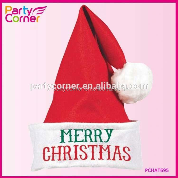 Merry Christmas Felt Santa Hat