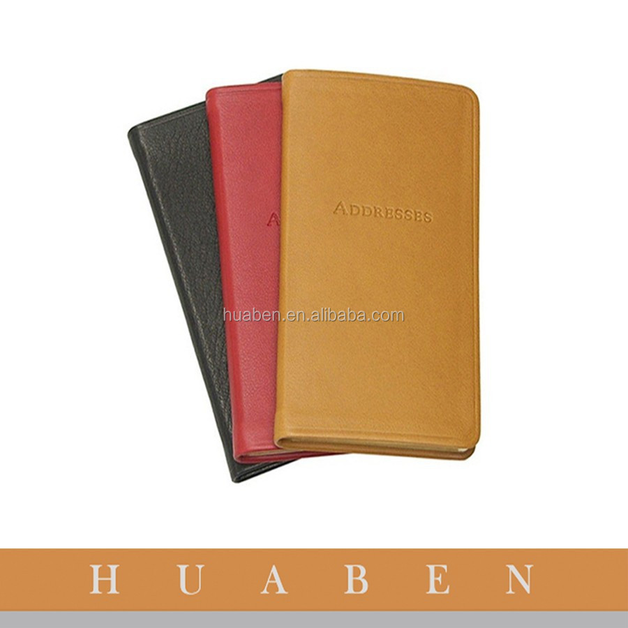 Huaben custom print notebook/PU leather address book