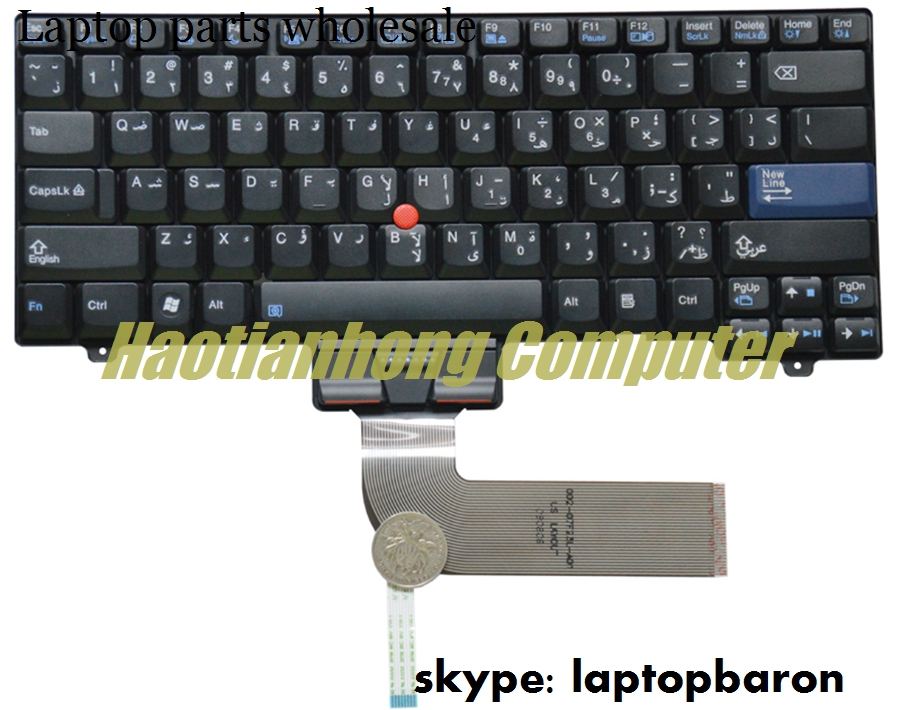 Wholesale slovenian keyboard for Lenovo SL300 SL400 SL500 laptop internal keyboard 42T3554 with red hat