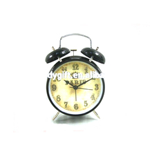 Decorative classic table top Black double bell metal different types desktop alarm clock