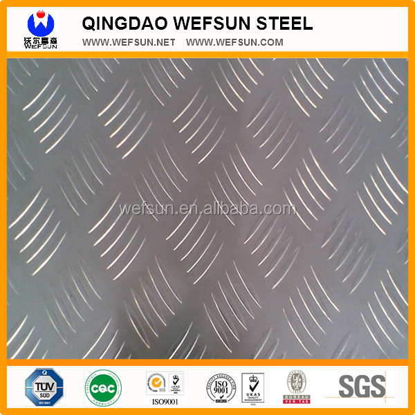 1219mm Width Wefsun Good Quality Chequered Sheet/Ms chequered plate
