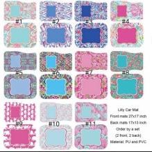 Lilly Pulitzer Inspired Floor Mat For Car Seat