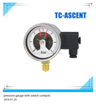 Bourdon tube Pressure Gauge with Switch Contacts Industrial series TC-GS21.100,