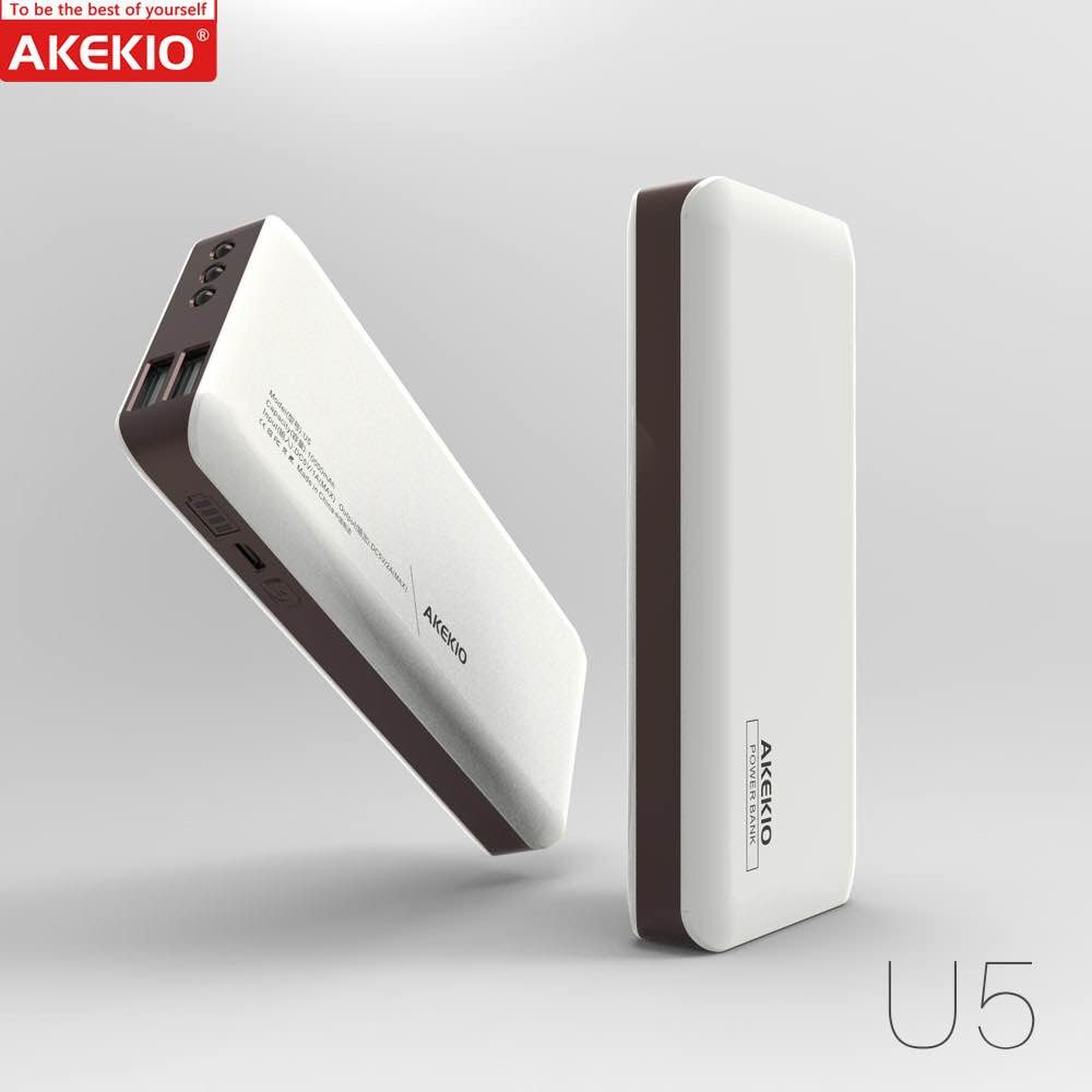 Famous brand Akekio full capacity mobile power bank10000mAh