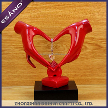 Creative resin heart-shaped custom wedding give away gifts