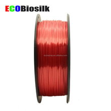 shiny red color 3D printer material PLA silk like polymer composite filament