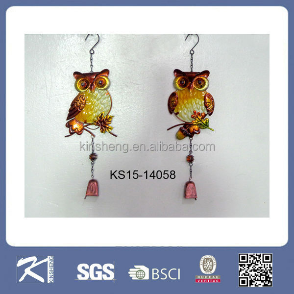 Kinsheng new product metal craft designs wall decors owl gifts