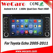 Wecaro WC-TU6229 android 4.4.4 car dvd player for toyota Echo 2005 - 2011 bluetooth 3G wifi playstore