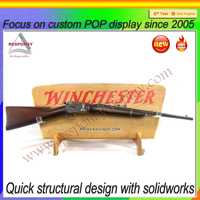 new product wood gun display stand