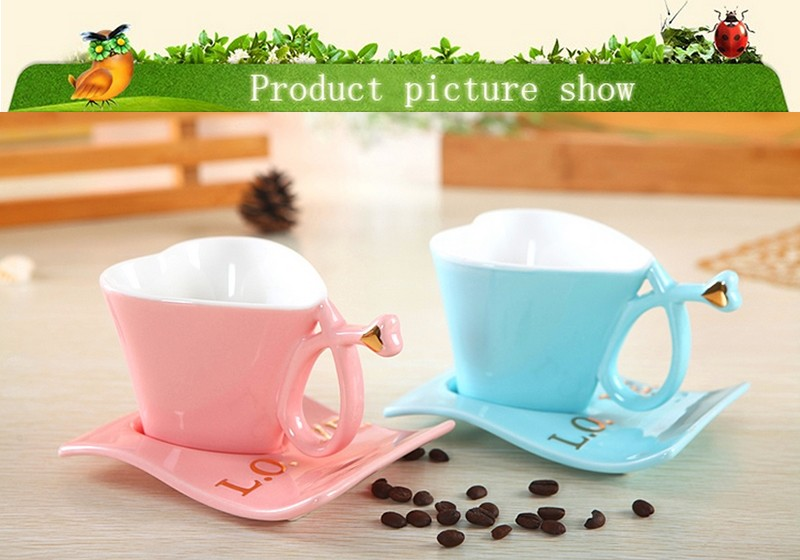 Factory new dedign Creative Fashion ceramic custom printing bulk tea cups