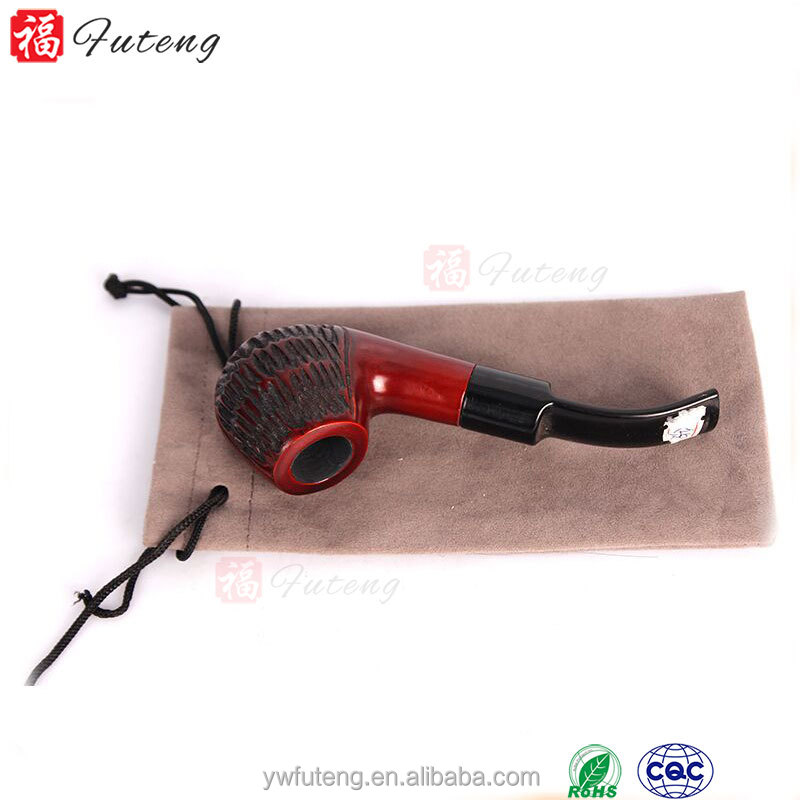 Attractive Red Rosed Carved Antique Manufacturer in China Smoking Pipe