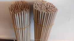 Split bamboo sticks
